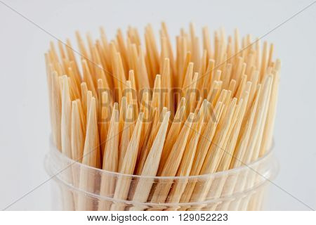 many toothpicks closeup can be used as background