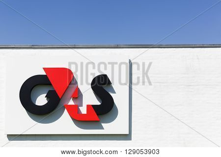 Aalborg, Denmark - May 8, 2016: G4S logo on a wall. G4S is a British multinational security services company headquartered in central London and It is the world's largest security company