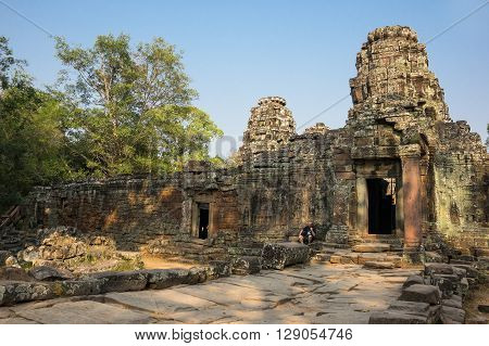 Ta Prohm temple at Angkor Wat complex Siem Reap Cambodia