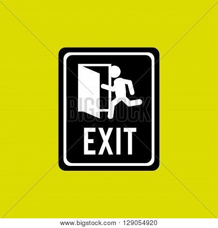 emergency exit design, vector illustration eps10 graphic