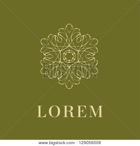 Elegant monogram design. Vector linear frame and monogram, monogram logo template. Trendy monogram and linear frame. Monogram and calligraphic elegant ornament elements. Identity design