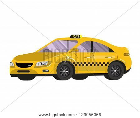 Taxi car. Flat styled vector illustration. Taxi Vector. Taxi Object. Taxi Picture. Taxi Image. Taxi Graphic. Taxi Art. Taxi Drawing stock vector