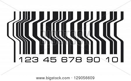 Abstract Geometric Ornate Design Barcode Labels Style. Vector Illustration.