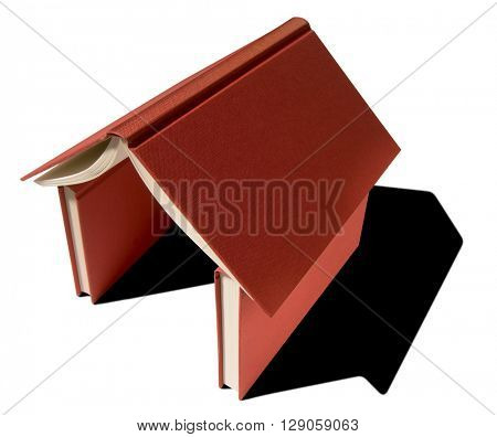 symbolic house made with red books