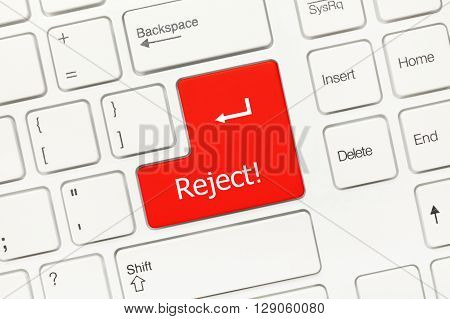 White Conceptual Keyboard - Reject (red Key)