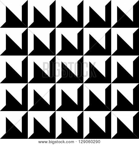 Abstract Beveled, Embossed Pattern, Monochrome Geometric Background.
