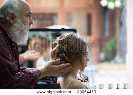 Bearded Hairdresser And Pretty Girl