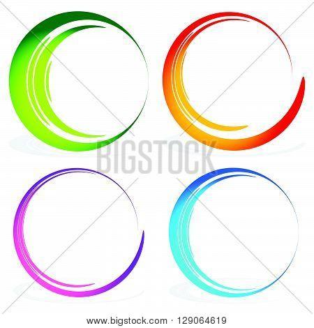 Set Of Sketchy, Scribble Circles.