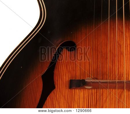 Vintage Archtop F Hole Acoustic Guitar Detail