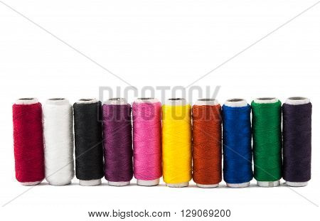 color thread isolated on white background hobbies, home