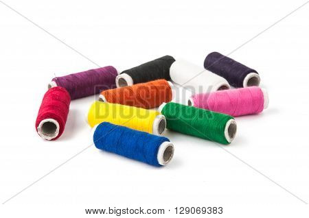 color thread isolated on white background, orange, pursuit,