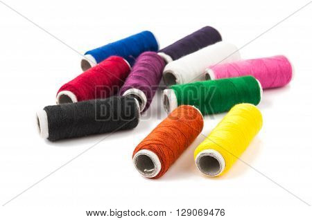color thread isolated on white backgroun drepair, sample,