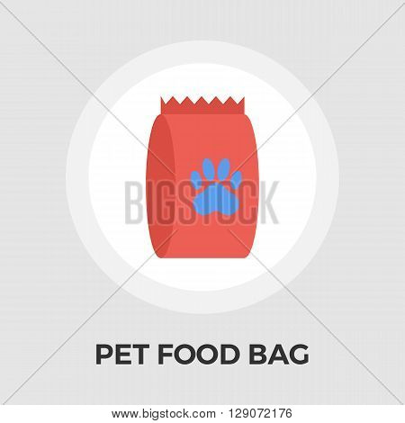Pet food bag icon vector. Flat icon isolated on the white background. Editable EPS file. Vector illustration.