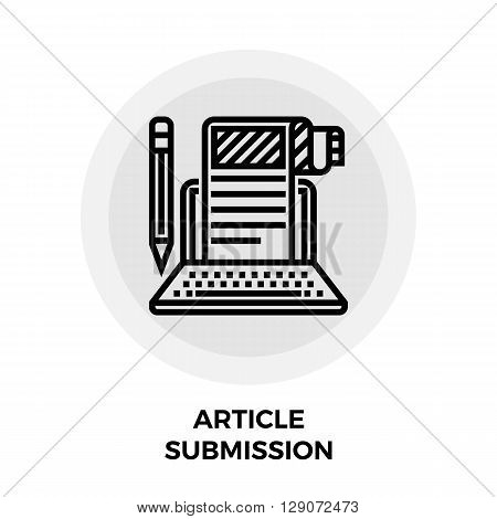 Article Submission Icon Vector. Article Submission Icon Flat.  Article Submission Line icon. Article Submission Icon JPEG. Article Submission Icon JPG. Article Submission Icon EPS.