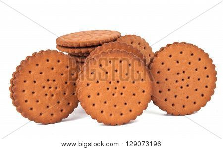 cookie sandwich on white background, snack, sugary
