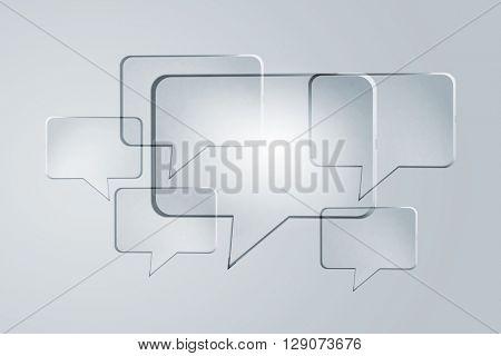 Speech glass icon