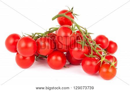 cherry tomatoes on a white background, macro, nutrient,