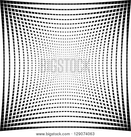 Abstract Grid Texture With Distortion Effect