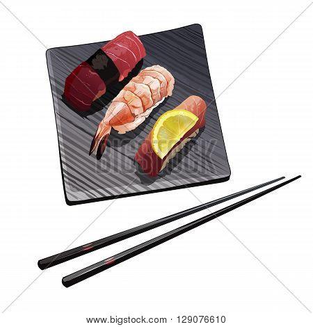 Sushi vector illustration on a white background