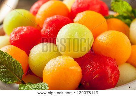 Fresh Homemade Melon Balls