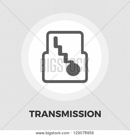 Automatic gear icon vector. Flat icon isolated on the white background. Editable EPS file. Vector illustration.