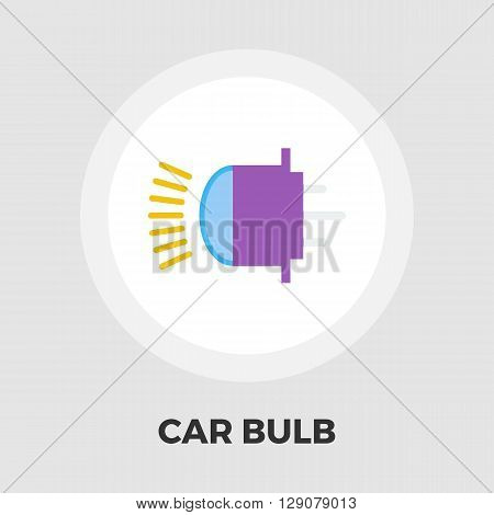 Xenon car lamp icon vector. Flat icon isolated on the white background. Editable EPS file. Vector illustration.