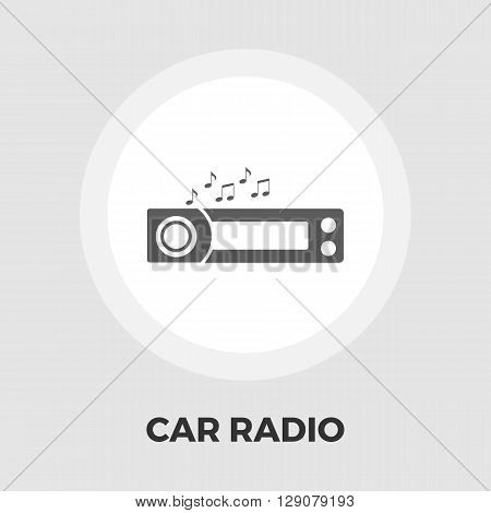 Car radio icon vector. Flat icon isolated on the white background. Editable EPS file. Vector illustration.
