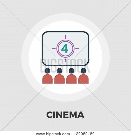 Cinema icon vector. Flat icon isolated on the white background. Editable EPS file. Vector illustration.