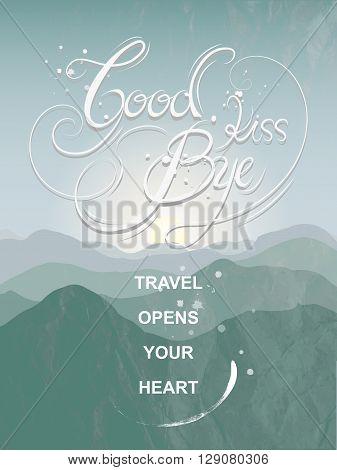 Graceful Goodbye Kiss Calligraphy Poster