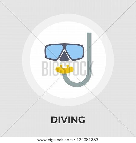 Diving icon vector. Flat icon isolated on the white background. Editable EPS file. Vector illustration.