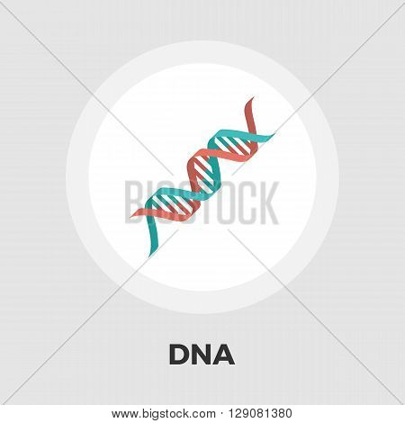 DNA icon vector. Flat icon isolated on the white background. Editable EPS file. Vector illustration.