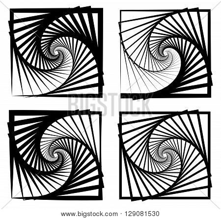 Various Abstract Spiral, Vortex Effects.