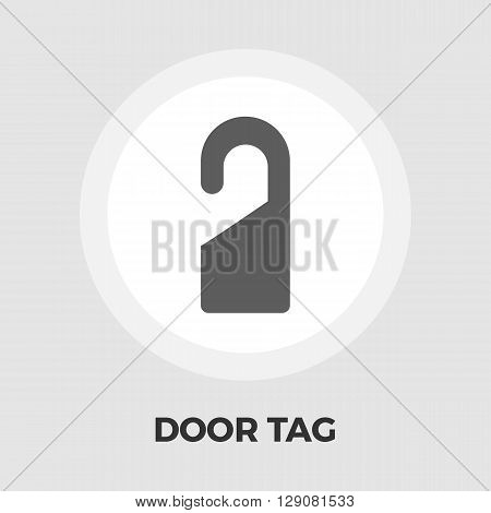 Door Tag Icon Vector. Flat icon isolated on the white background. Editable EPS file. Vector illustration.