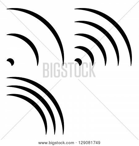 Signal Shapes, Generic Quarter Circles, Bent Lines With Different Density For Emission, Radiation, T