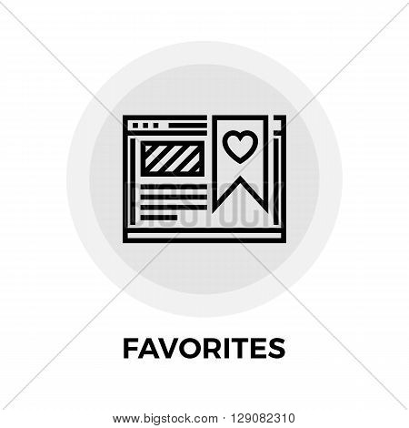 Favorites icon vector. Flat icon isolated on the white background. Editable EPS file. Vector illustration.