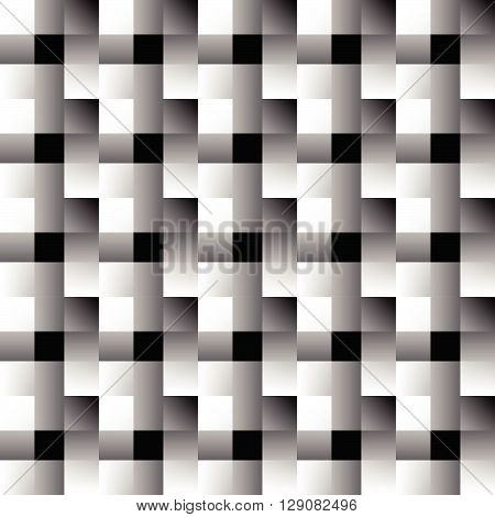 Mosaic Of Squares. Abstract Monochrome Background. Overlapping Faded Rectangles.