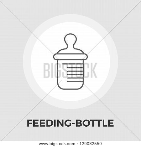 Feeding bottle icon vector. Flat icon isolated on the white background. Editable EPS file. Vector illustration.