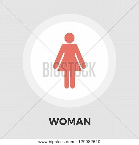 Female gender sign icon vector. Flat icon isolated on the white background. Editable EPS file. Vector illustration.