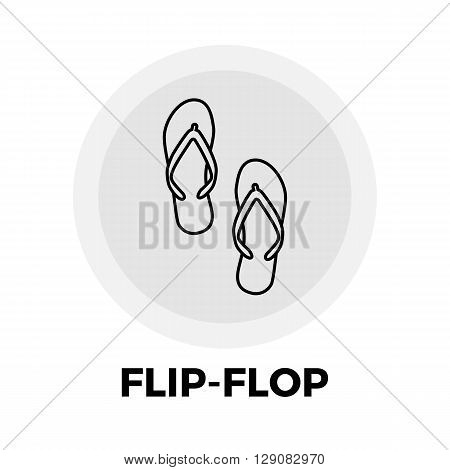Flip-Flop icon vector. Flat icon isolated on the white background. Editable EPS file. Vector illustration.