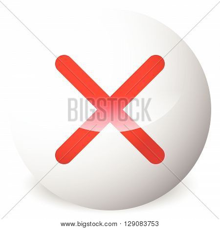 Circle With X Shape, Cross. Delete, Remove, Quit Button. Red Closure, Wrong, Prohibition, Restrictio