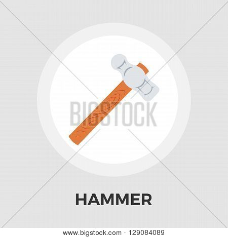 Hammer Icon Vector. Flat icon isolated on the white background. Editable EPS file. Vector illustration.