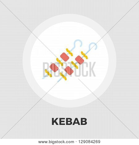 Kebab icon vector. Flat icon isolated on the white background. Editable EPS file. Vector illustration.