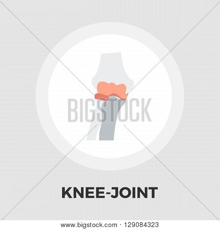 Knee-joint icon vector. Flat icon isolated on the white background. Editable EPS file. Vector illustration.