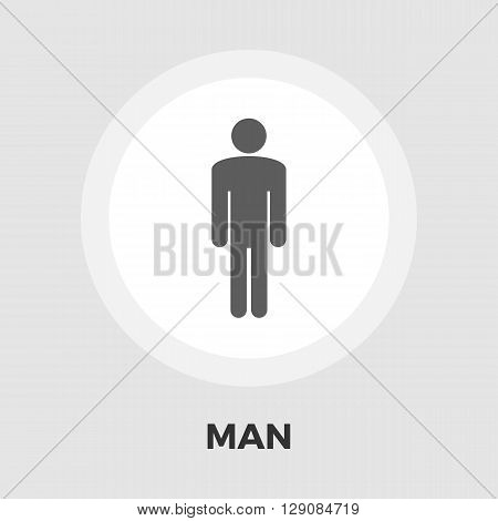 Male gender sign icon vector. Flat icon isolated on the white background. Editable EPS file. Vector illustration.
