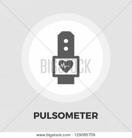 Pulsometer icon vector. Flat icon isolated on the white background. Editable EPS file. Vector illustration.