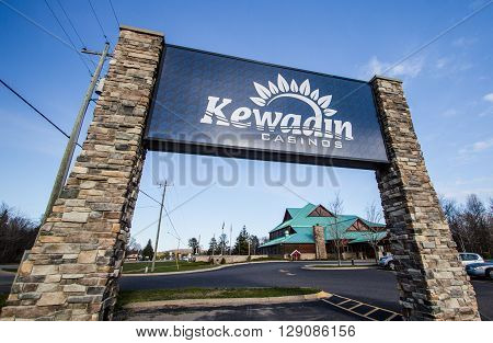 Christmas, Michigan, USA - May 7, 2016: Kewadin casino located in Christmas, Michigan. The casino is operated by the Sault Tribe Of Chippewa Indians with five locations in the Upper Peninsula.