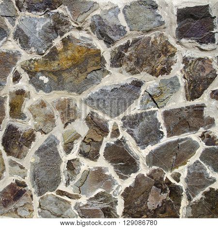 Old wall made of stones - texture for 3d modeling and decoration