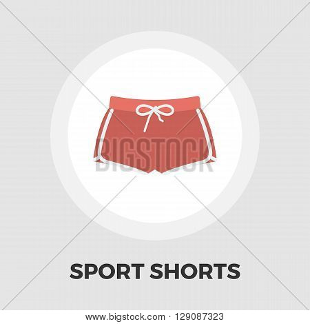 Sports shorts icon vector. Flat icon isolated on the white background. Editable EPS file. Vector illustration.