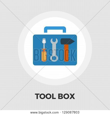 Tool box icon vector. Flat icon isolated on the white background. Editable EPS file. Vector illustration.