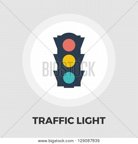 Traffic light icon vector. Flat icon isolated on the white background. Editable EPS file. Vector illustration.
